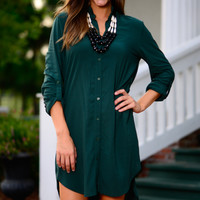 Just Believe Dress, Dark Green