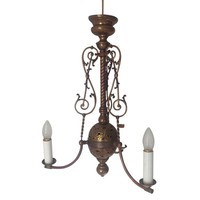 Pre-owned Antique Brass Chandelier