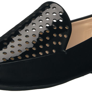 Nine West Women's Xavio Patent Penny Loafer Black 7.5 B(M) US '
