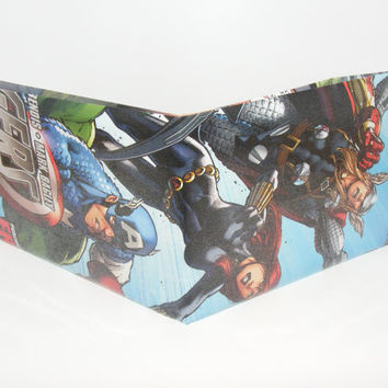 Comic Book Wallet// Avengers// Captain America, Black Widow, and Thor