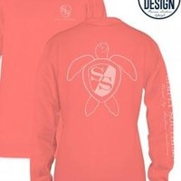 Simply Southern Unisex Long Sleeve Tshirt - Coral