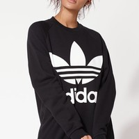 adidas Adicolor Black Oversized Sweatshirt at PacSun.com