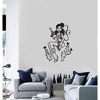 Vinyl Decal Wall Stickers Cowboy Girl Western Cactus Home Decor Unique Gift (g081)