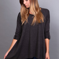 September's Silhouette Top {Charcoal}
