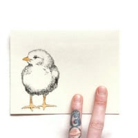 CHICK EASTER CARD Hand Drawn