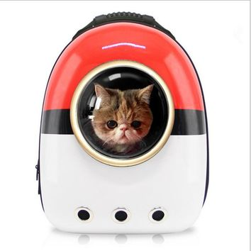Space Capsule Shaped Pet Carrier  Breathable pet backpack