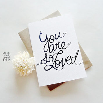 Bride to groom card. You are so loved. Wedding Day card. Love card. LC186