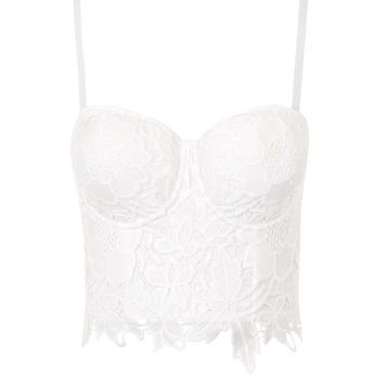 **Lacey Ivory Bustier by WYLDR - Topshop