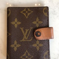LOUIS VUITTON MONGRAM VERNIS BIFOLD SNAP CLOSURE 2 POCKET CREDIT CARD HOLDER