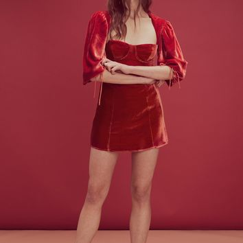 Nadine Velvet Bustier Dress – For Love & Lemons