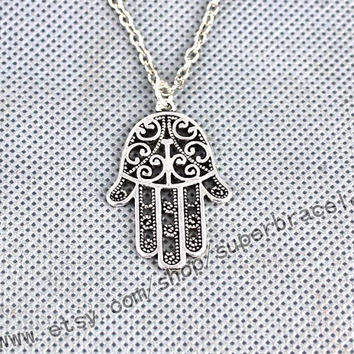 Charm necklace, hand Antique Silver necklace, necklace, express Personalized Jewelry, daily necklace, Personalized fashion