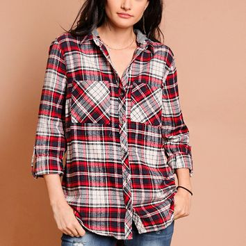 West Portland Plaid Top | Threadsence