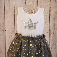 Silver Crown Princess Star Dress