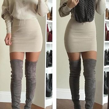 Cupshe Back For Good Knitting Bodycon Dress