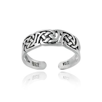 Sterling Silver Irish Celtic Knot Toe Ring