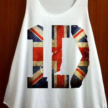 1D One Direction United Kingdom Flag Logo Niall Horan Clothing Tank Top Women Shirt Tunic Top Singlet Vest Women Top Sleeveless - Size S M