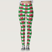 Leggings with flag of Wales, United Kingdom