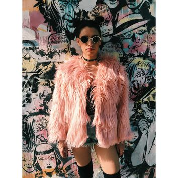 Faux Fur Pink Jacket