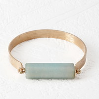 Faux Stone Latch Bracelet