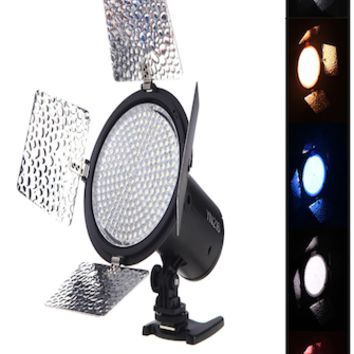 216 LED Studio Video Light 3200-5500K Photography Back Light W/4 Color gels AC adapter SCR1045