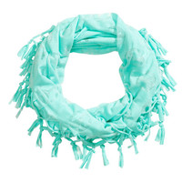 H&M - Jersey Tube Scarf - Turquoise - Kids