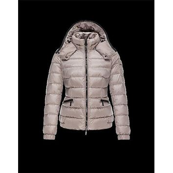Moncler SABY Turtleneck Detachable Dove grey Jackets Technical Nylon Womens 41457124FV