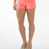 Tinseltown Neon Polka Dot Stretch Short