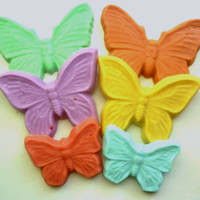 Kids Soap –Butterfly Party Set of 3 - Butterfly Soap - Children Soap - Birthday Party Favors