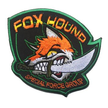 Morale Patches with hook back Metal Gear Solid Foxhound Military  special forces tactical  patches for jacket