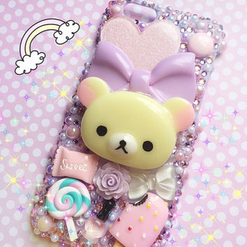 Kawaii Rilakkuma Bling Sweets Deco iPhone 6 Case