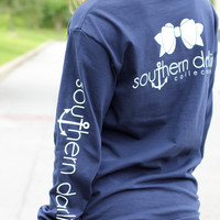 Southern Darlin' - Classic Navy Long Sleeve