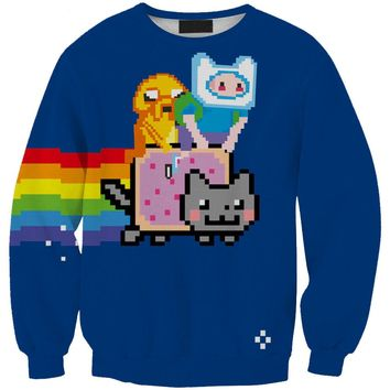 Adventure Time Men/Women Harajuku Sweatshirt Sexy Pullover Hoodies 3D Tops Women Tracksuits Sporting Suits Femme