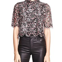 The KooplesCollared Lace Top