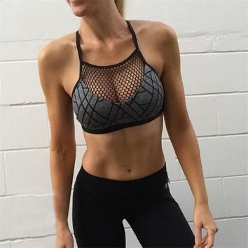 New Women Print Yoga Sport Bra