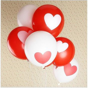 10pcs/lot 12inch Love Heart Pearl latex balloon Float air balls inflatable wedding Christmas birthday party decoration toys