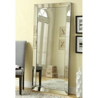 Contemporary Floor Mirror with Mirrored Frame