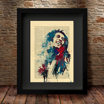 Bob Marley Poster, Bob Marley Watercolour Painting, Bob Marley Art, Wall Art Poster, Bob Marley Decor, Art Print, Celebrity Portraits -60