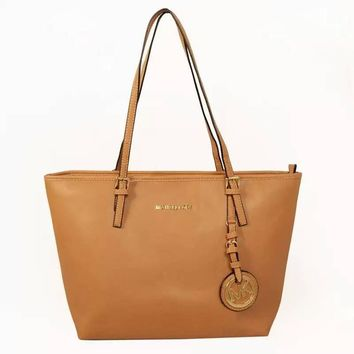 MK Women Shopping Leather Handbag Tote Satchel Shoulder Bag