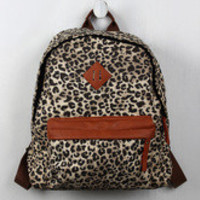 Leopard Canvas Backpack