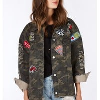 On Patrol Patched Denim Jacket