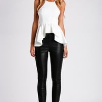 HelloMolly | Peplum Top White - Tops
