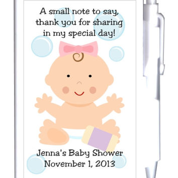 Baby Shower Note Favor