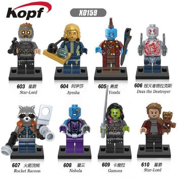 Super Heroes Guardians of the Galaxy Nebula Gamora Yondu Drax The Deatroyer Bricks Building Blocks Best Children Gift Toys X0159