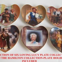 LOVING LUCY PLATE COLLECTION-SET of SIX with STANDS from THE HAMILTON COLLECTION
