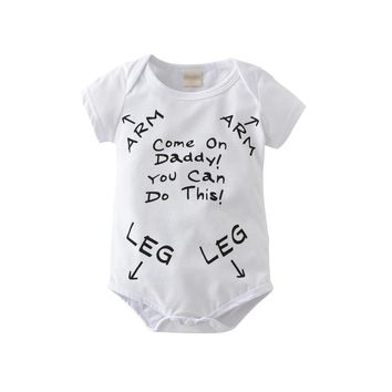 "Copy of FREE: ""Come On Daddy You Can Do This"" Funny Saying Baby Romper"