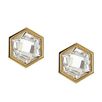 Nadri Honeycomb Stud Earrings - Gold
