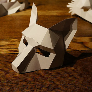 Make your own half face fox mask