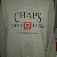 Vintage Chaps Ralph Lauren Polo Sweatshirt  Spirited Tradition Size Large