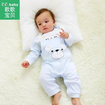 Newborn Clothing Baby Clothes Set Baby Brand Suit Gift Outfit Long Sleeve Overalls Pants Infant Boys Girls Clothes Sets Suit