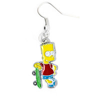 Skateboarding Bart Earring